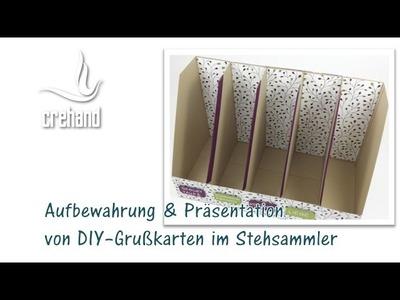 Ordnung im Bastelzimmer: Aufbewahrung von Grußkarten im Stehsammler mit Stampin' Up!