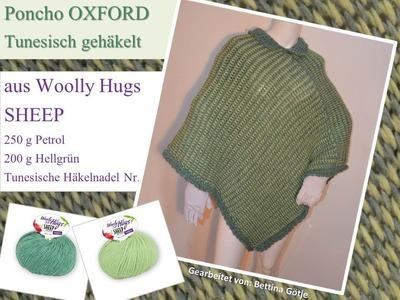 Poncho OXFORD - Woolly Hugs SHEEP - Tunesisch Häkeln mit Veronika Hug