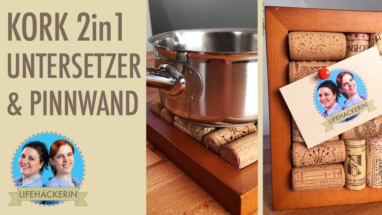 Untersetzer und Pinnwand | Weinkorken DIY | 2 in 1