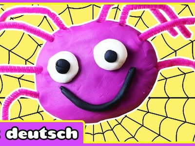 Wie Man Knete Die klitzekleine Spinne Machen - How To Make Playdoh Incy Wincy Spider