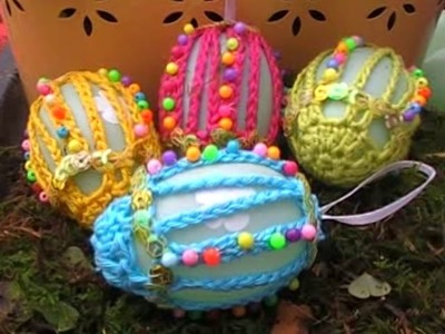 Wunderschöne Ostereier. Wonderful Eastereggs with English instructions easy