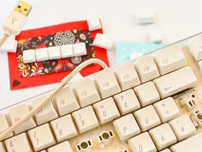 Aus ALT mach NEU | 3 Ideen mit einer alten Tastatur | Magnete, Namensschild & Geburtstagskarte