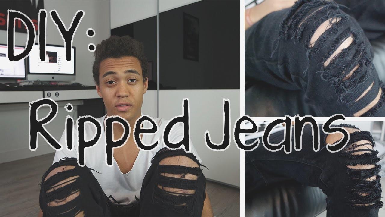 diy ripped jeans selber machen. Black Bedroom Furniture Sets. Home Design Ideas