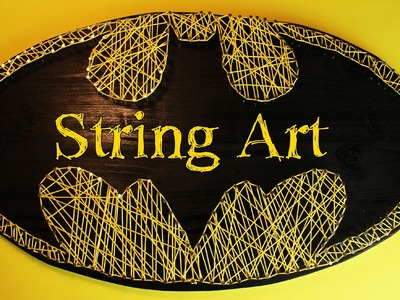 Fadenbild Batman | String Art