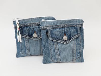 Frühlingsliebe Nähanleitung: Jeans Upcycling - Kosmetiktasche
