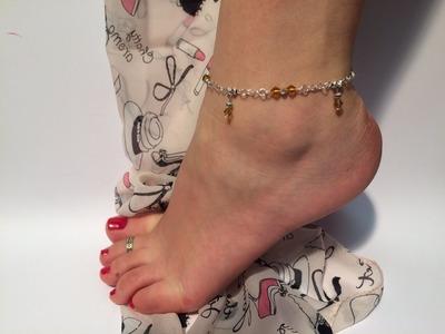 Fusskette selber machen. Fusskette aus Perlen.