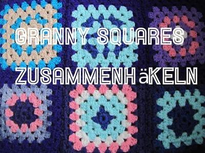 Granny Squares zusammen häkeln (mit festen Maschen)