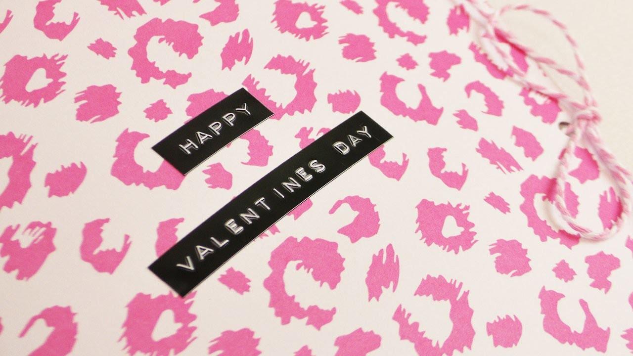 Leoparden Valentinstags Karte mit Schleife & Herzen ♥ süße Karte selber machen   14. Februar