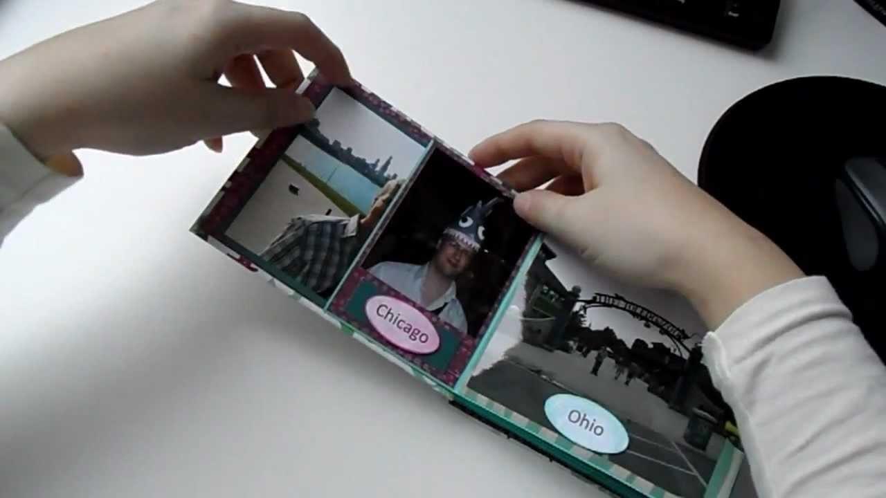 Minialbum aus Din lang Briefumschlägen