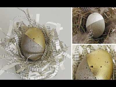 Osterdeko basteln: coole Ostereier aus Beton selber machen - DIY | Deko Kitchen