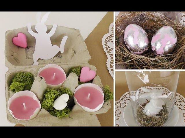 Osterdeko basteln: edle Ostereier und Eierschalen-Teelichter DIY | Deko Kitchen