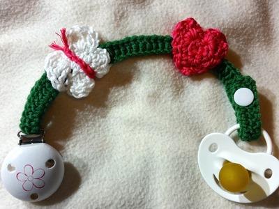 Schnullerkette - Nuckelkette für Babys by BerlinCrochet
