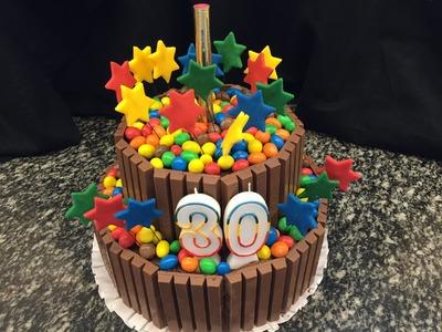 Schokoladenkuchen Kit Kat Torte mit M&M`s super leicht selber machen - von einfach backen