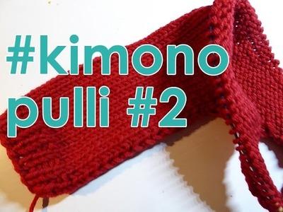 Stricken mit eliZZZa * Kimono-Pulli quergestrickt * Teil 2