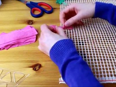 Upcycling: Teppich aus alten T-Shirts knüpfen: Der T-Shirt Teppich (T-shirt Rug or Shag Rug)