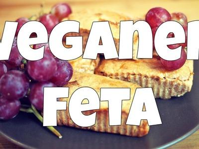 Veganer Feta - Gebackener Mandel-Feta in Vegan (Rezept) [VEGAN]