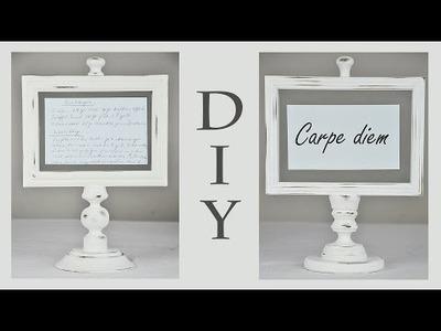 DIY - Bilderrahmenständer im Shabby Chic Stil für Rezepte, Postkarten, Sinnsprüche und  Erinnerungen