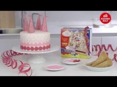 Coppenrath & Wiese – Kuchenkult – Tutorial – Torte zum Kindergeburtstag im rosa Schloss-Design