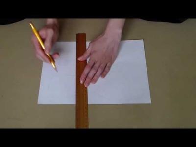 Create a shoe sole pattern. Schuhsohle abzeichnen