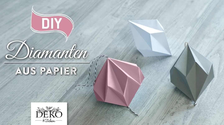 diy: hübsche papier-diamanten selber machen [how to] deko kitchen