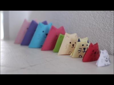 DIY: Katzen Origami stapelbar. Video in Schweizerdeutsch