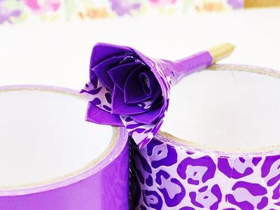 Ducktape Blume selber machen | Bleistift Deko aus Klebeband | Back to School Idee für den Frühling