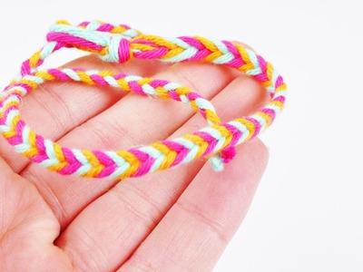 Fischgrätenarmband selber machen | Armband in 3 Farben selber machen | Geschenkidee