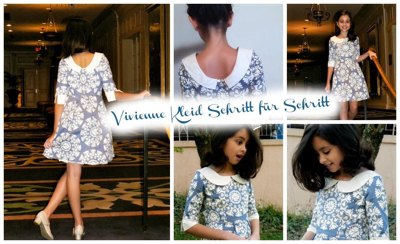 Kleid mit langem Ärmel nähen - Wunderland Kollektion