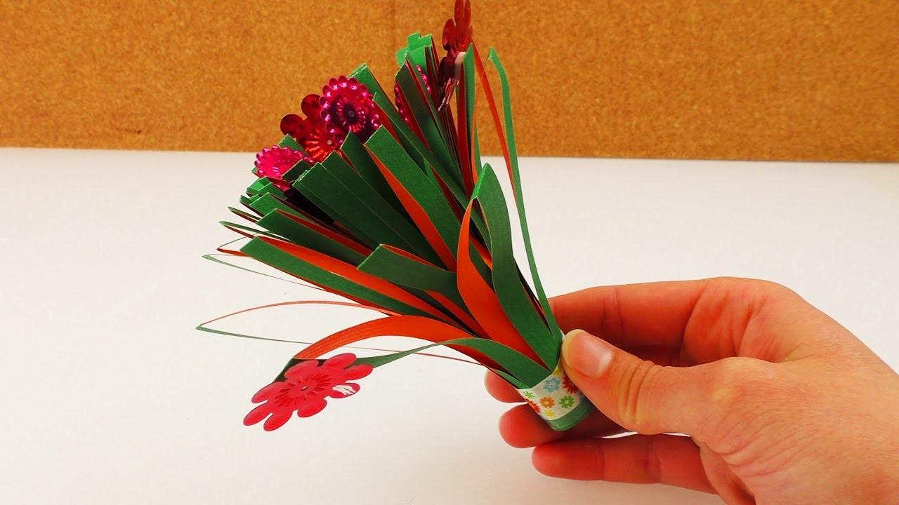 Kleinen Blumenstrauß selber machen | Geschenkidee für Mutter- und Vatertag | Blumenstrauß aus Papier