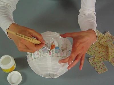 KreativPLUS Itzehoe Bastelanleitung: Papierlampion mit Servietentechnik