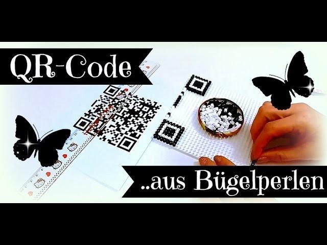qr code aus b 252 gelperlen selber machen diy bastelideen mit hama tutorial