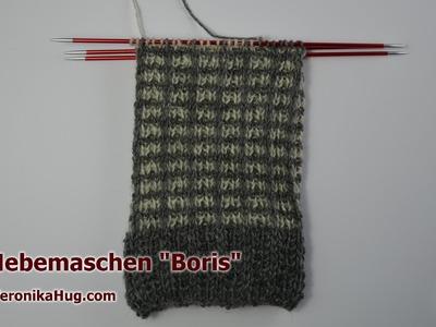 Socken stricken - Sockenmuster Hebemaschen BORIS - Veronika Hug