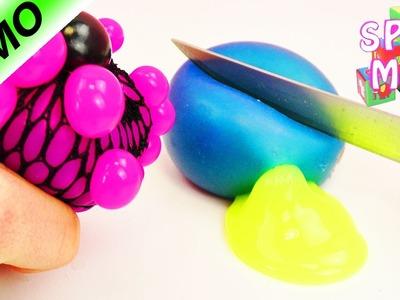 SQUISHY MESH BALL ZERSCHNEIDEN! Schleim Glibber Experimente - Spielzeug aufschneiden