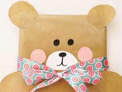 Süße Bärchen Geschenkverpackung | Geschenk verpacken für Kinder | Kindergeburtstag basteln