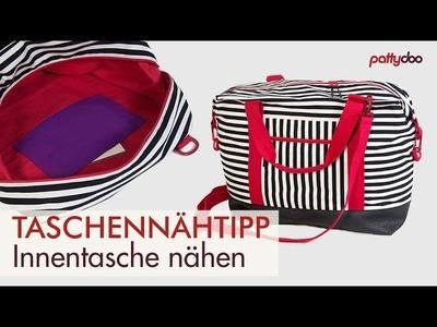 Taschen nähen 7: Innentasche  aufnähen