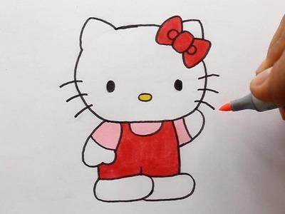 Wie zeichnet man Hello Kitty
