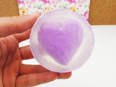 Zweifarbige Seife selber machen | Seife mit Herz-Muster | Geschenkidee