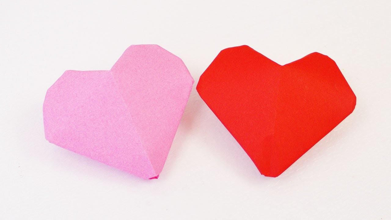 3d herz origami kleine herzen zum aufblasen falten einfach s valentinstag. Black Bedroom Furniture Sets. Home Design Ideas