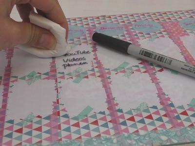 Abwaschbares Whiteboard selber machen | super Organisationshilfe | Back to school | Stundenplan