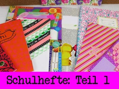 Back to School - 8 Ideen um Schulhefte zu verschönern TEIL 1 - Tagebücher