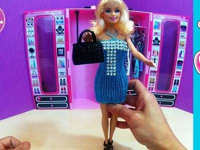 Barbie Strickkleid DIY in türkis - Barbie Kleider in Handarbeit