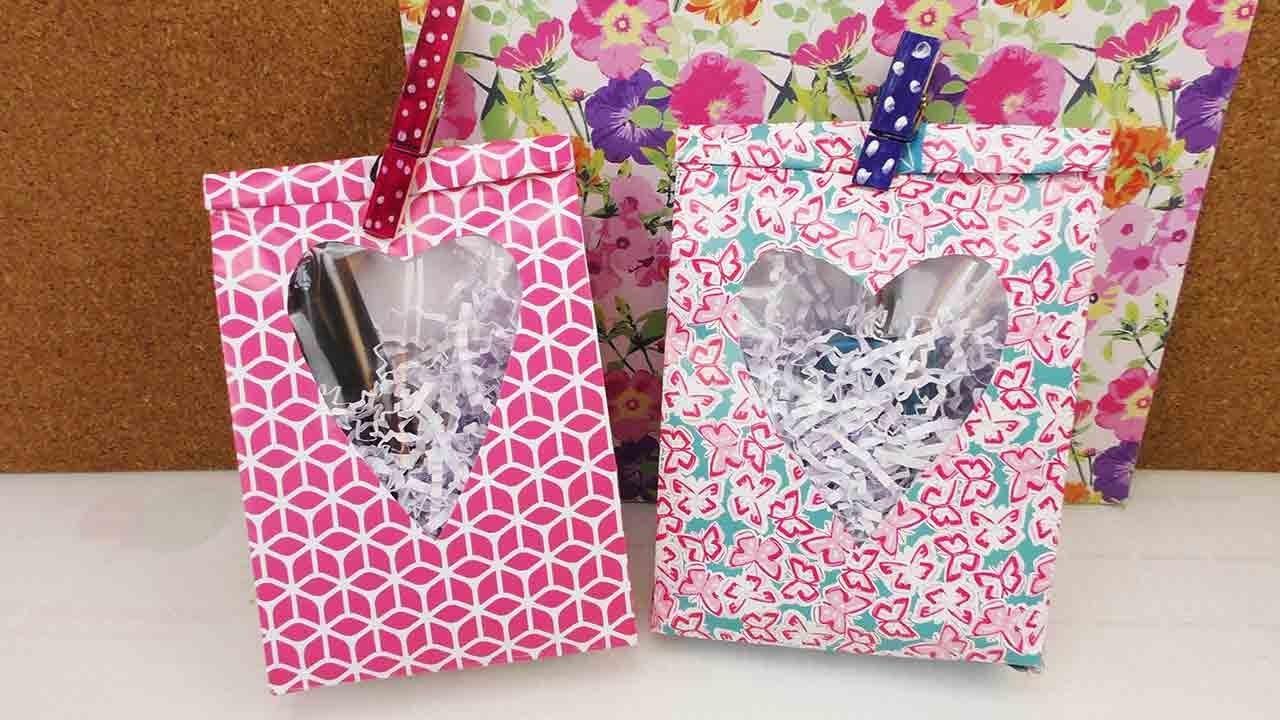 geschenkt ten mit herzfenster geschenke kreativ verpacken tolle geschenkverpackung selber machen. Black Bedroom Furniture Sets. Home Design Ideas