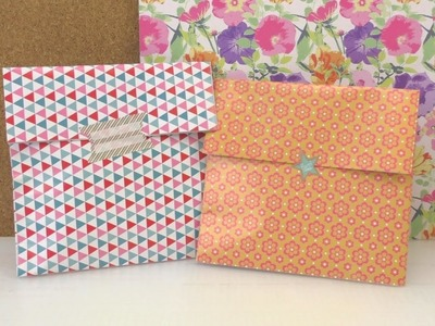 Geschenkverpackung in 1 Minute - süße Papiertüte für Kleinigkeiten - für die Mutter, Beste Freundin