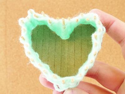 Herz Körbchen weben | Aufbewahrungsboxen selber machen für Krimskrams | Geschenk zum Muttertag