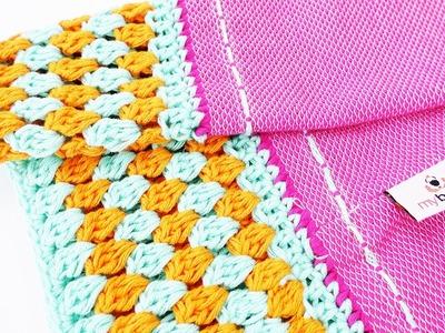 NEUER Myboshi Loop aus Stoff zum Anhäkeln | Schal Weiterhäkeln | Frühlingsschal selber häkeln