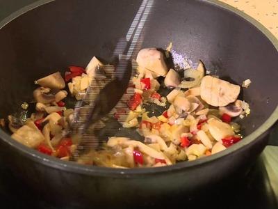 Reis mit Gemüse. Schnelles Rezept. Sehr lecker und gesund.Kochen ohne Fleisch .
