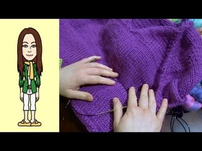 RVO Raglan von oben Pullover stricken mit V-Ausschnitt (Teil 8 von 12)