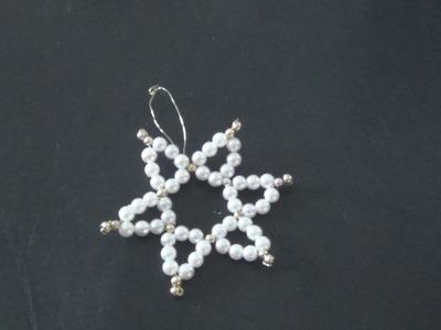 Stern aus Perlen basteln