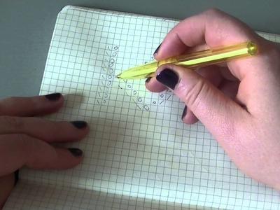 Strickmuster zeichnen - gestrickter Schal mit Rautenmuster