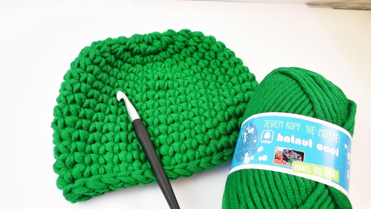 Winter Mütze In Festen Maschen Mit Hatnut Cool Wolle Häkeln Für